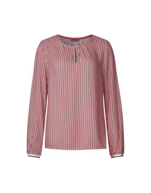Print blouse w teardrop closur