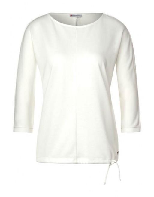 knit look shirt u-boat neck