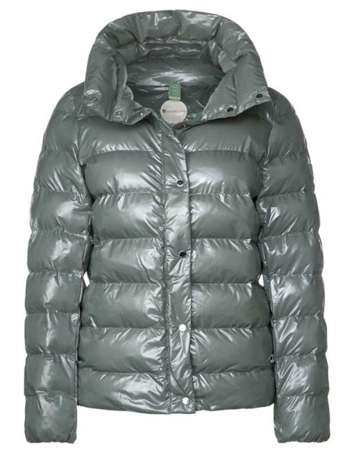 short shiny padded jacket w. s