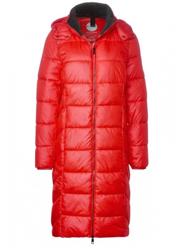 long padded coat w. removable
