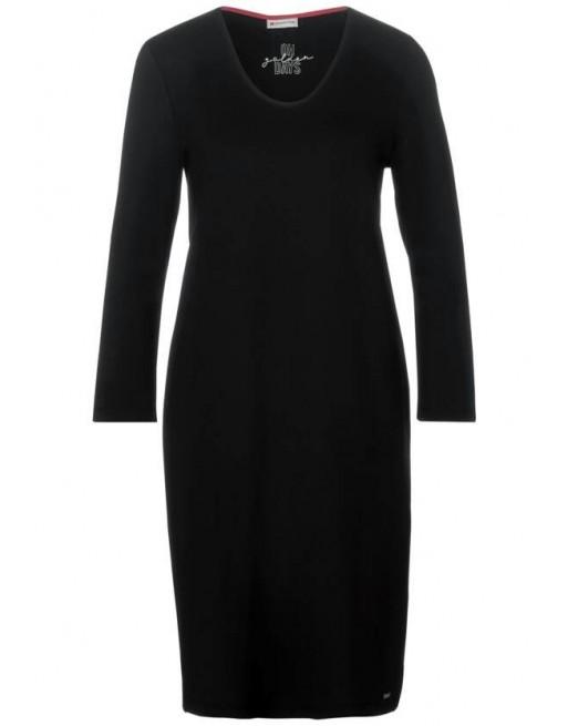 Jersey Dress w Tape_kneelength