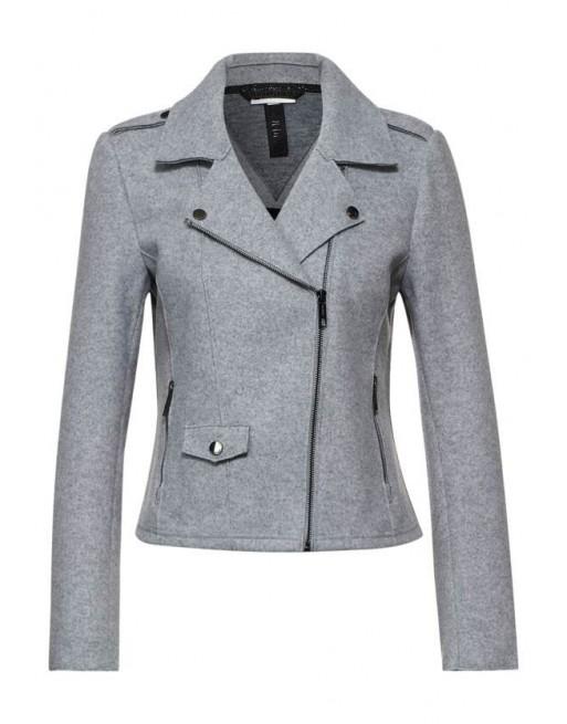 LTD QR Fake Wool Biker Jacket