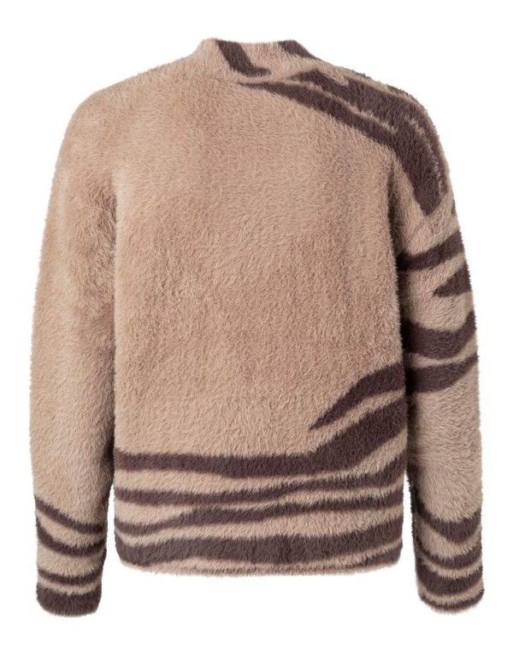 Fluffy jacquard sweater