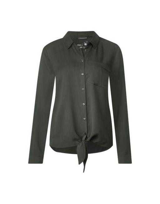 Utility blouse w knot detail