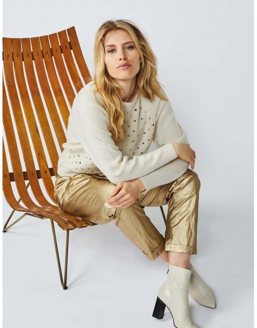 Dot sweater cosy wool mix knit