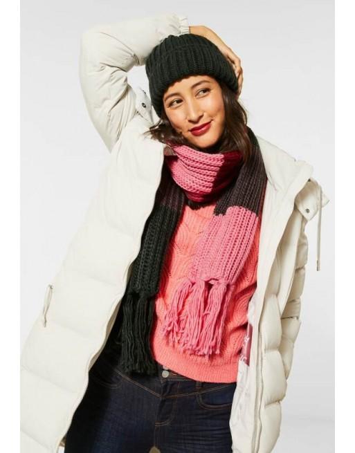 Colour block sjaal