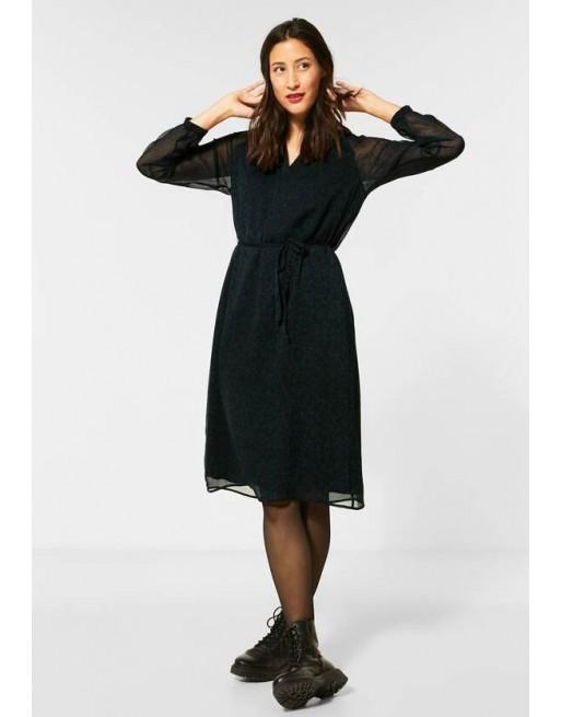 Chiffon-jurk met patroon