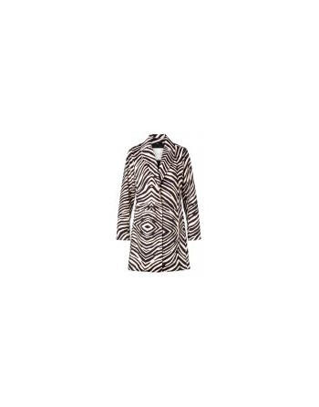 Faux fur zebra coat