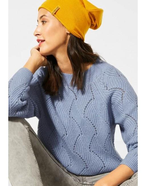 Pullover met breiwerk