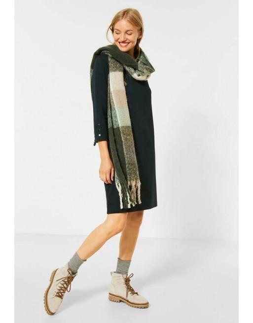Jersey jurk met knoopdetail