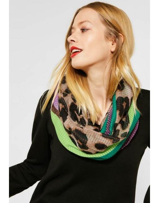 sjaal met gemengd patroon