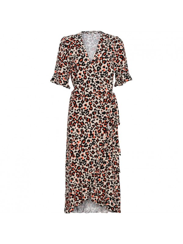 dress rufles animal print