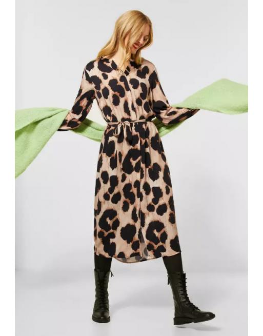 Midi-jurk met leo