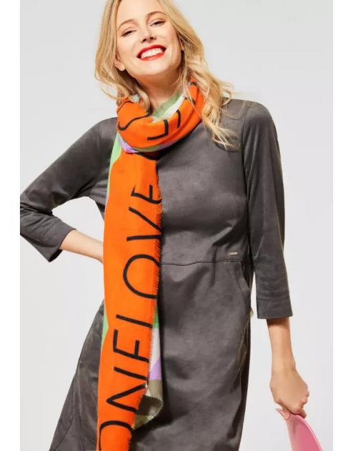 Zachte sjaal met belettering