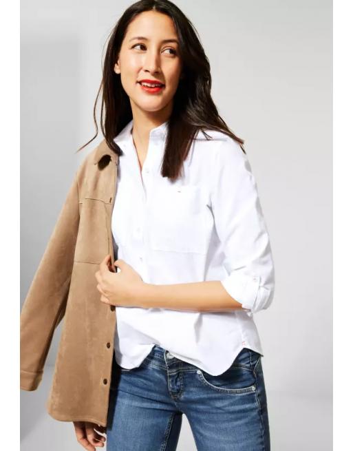 Katoenen blouse met kraag