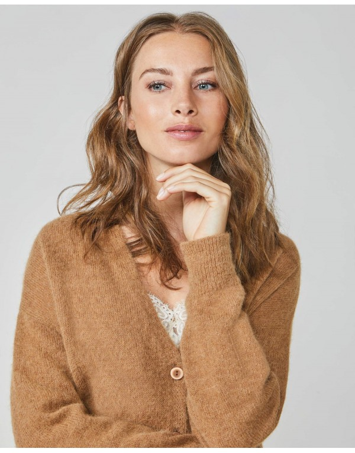 Cardigan superfine alpaca knit