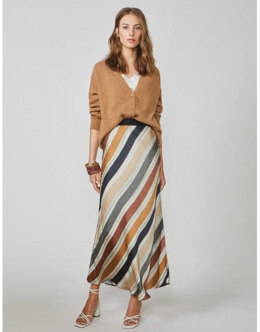 Skirt printed stripe