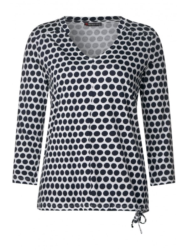 all over dot printed jersey sh