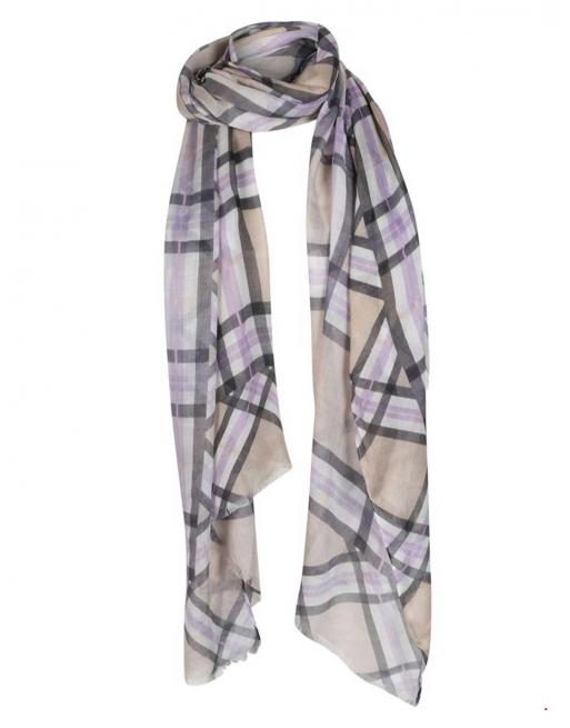 sjaal met ruit print
