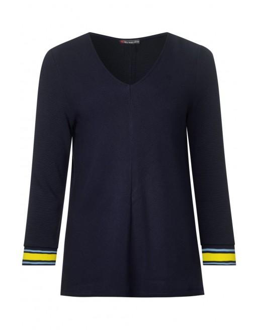 structure shirt w.stripe cuff