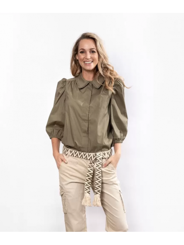 Maria Blouse Army