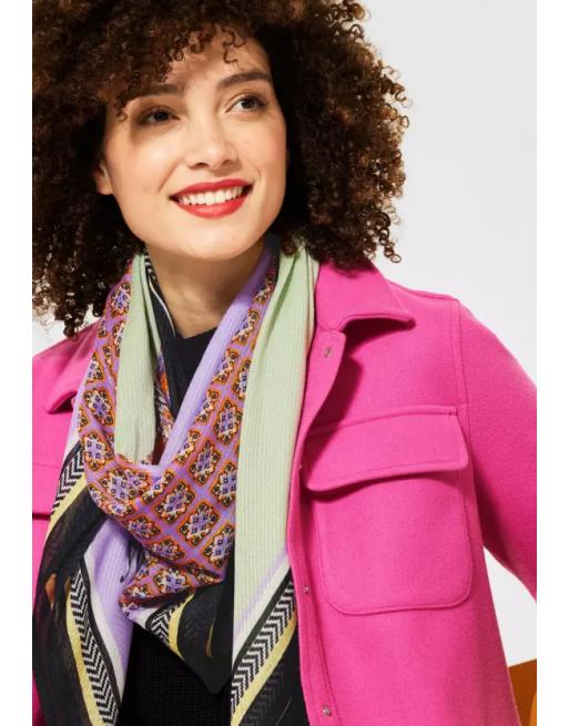 Sjaal met patroonmix