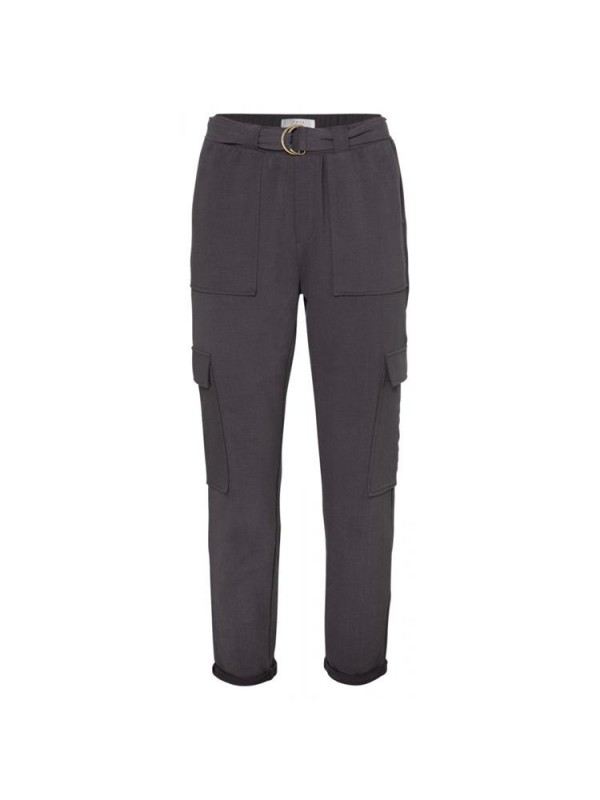 Belted cargo jogger pants