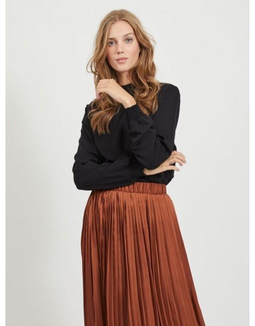 hoge kraag blouse