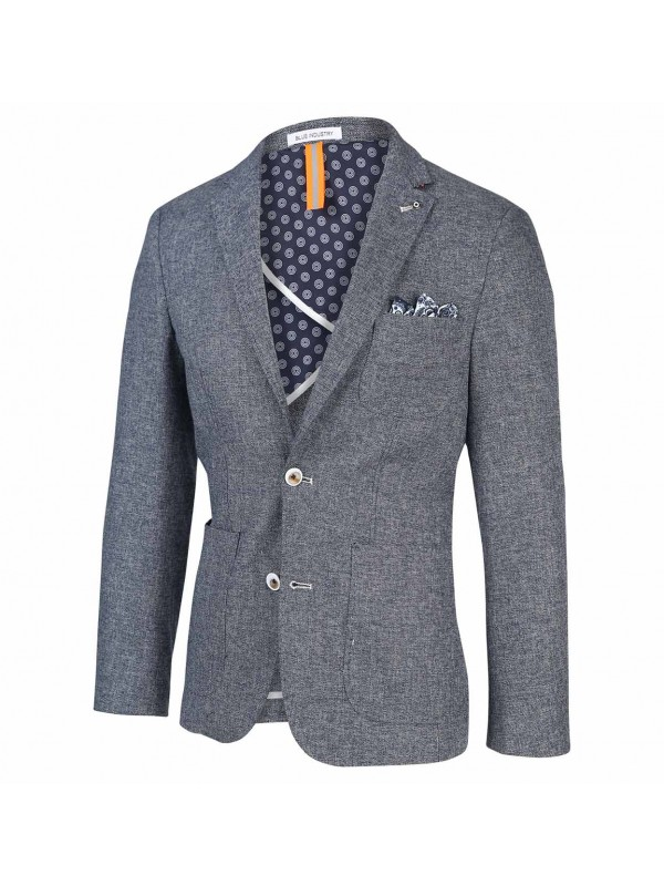 Blue industry blazer