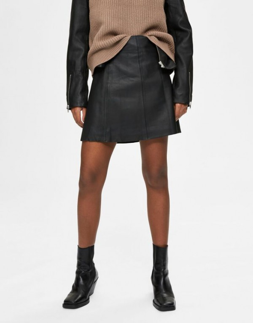 a-lijn middellange rok