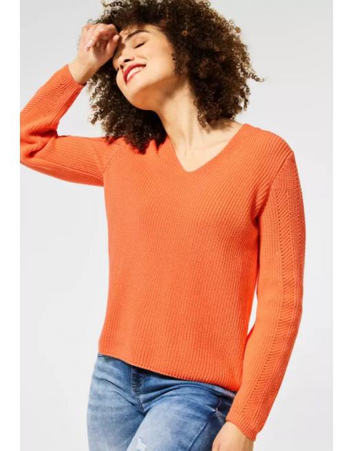 Gebreide trui in effen kleur