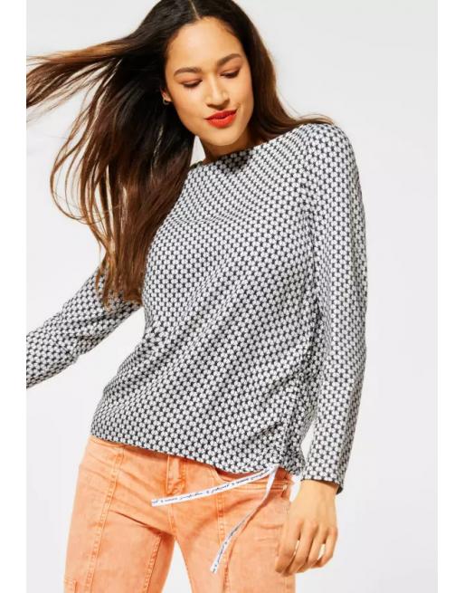 shirt met materialen mix