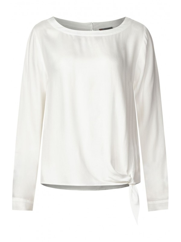 Solid blouse w knotted bottom
