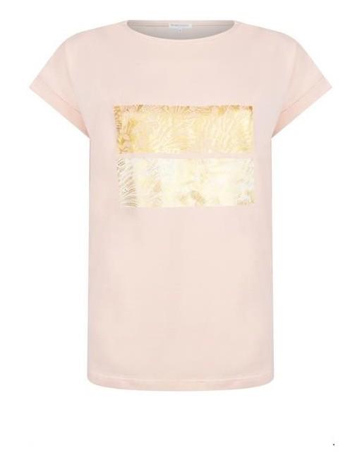 T-Shirt met Art Deco Print