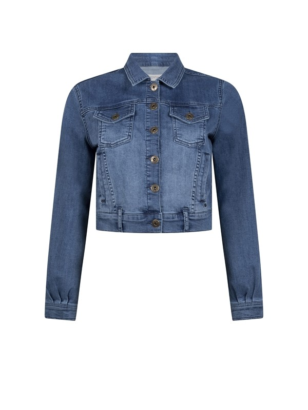 Jacket Denim Balloon Sleeve