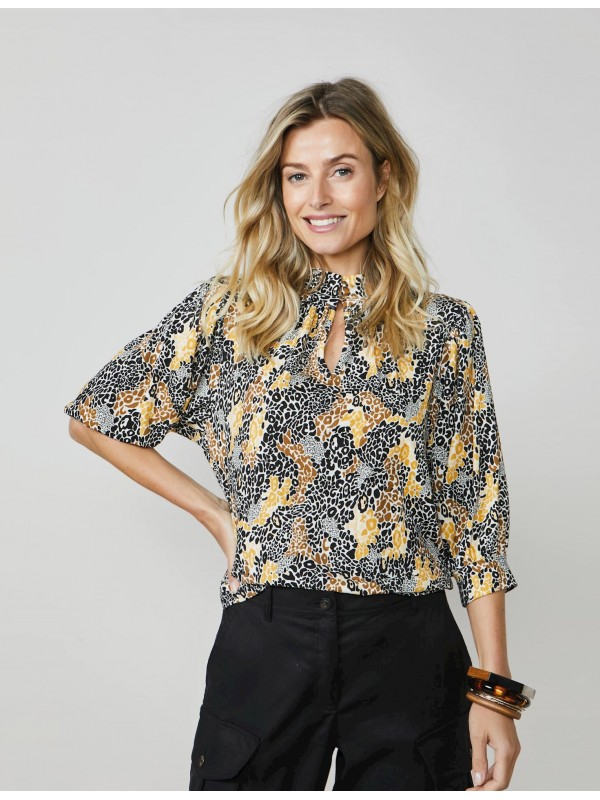 Top colourful animal print
