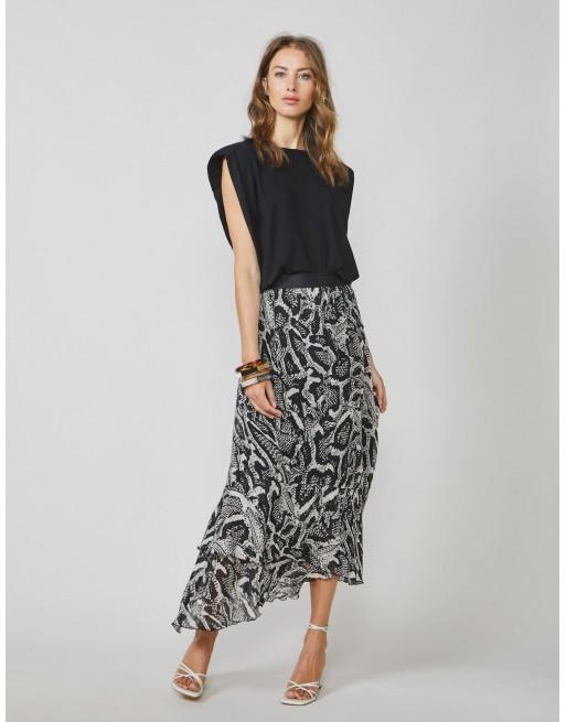 Skirt ebony and ivory