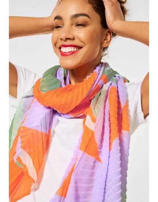 Sjaal in plissée look