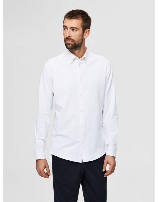 katoen gebreid overhemd