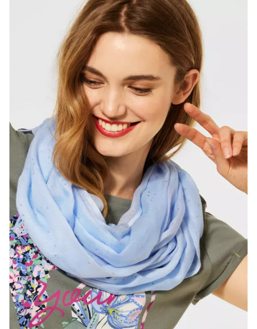 Loop sjaal met folieprint