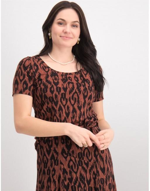 T-Shirt Ikat Print