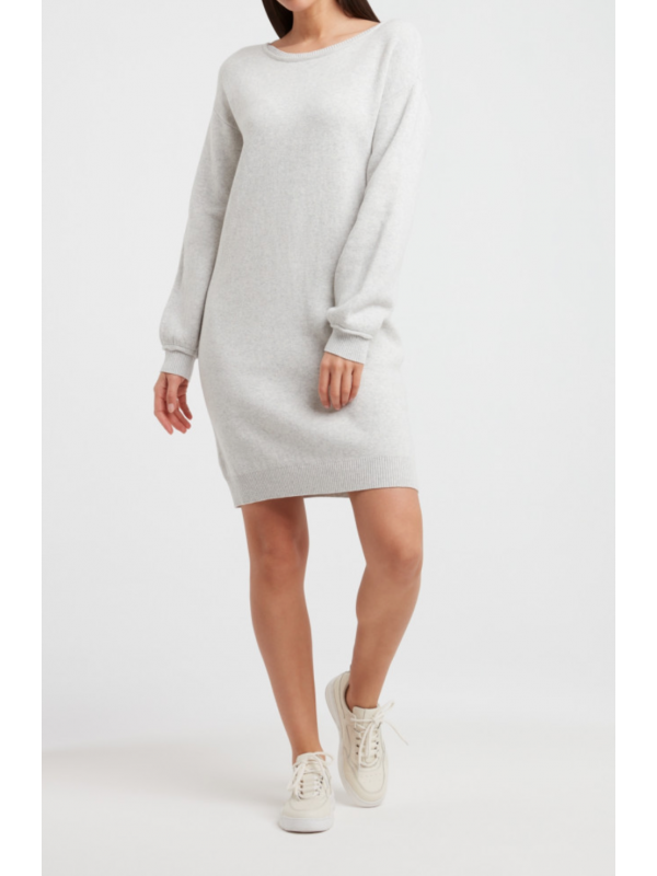 Boatneck knitted dress