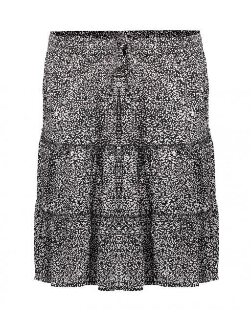 Skirt ruffle minimal print