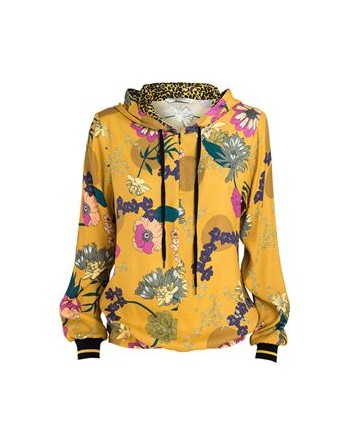 top hoodie al over flower...