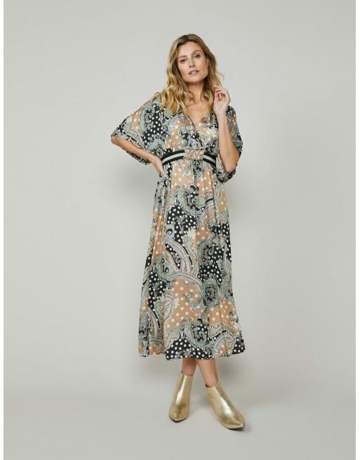 Dress paisley and dots