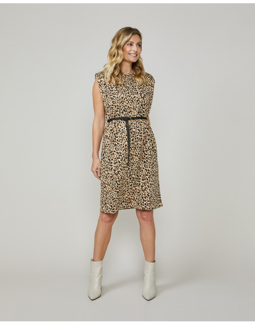 Dress padded animal print...