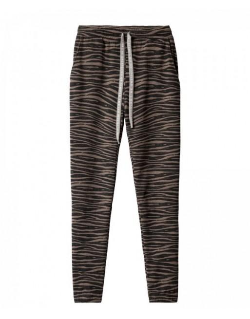 cropped jogger zebra