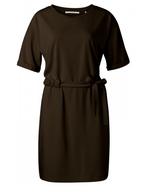 Jersey jurk met geplooide...