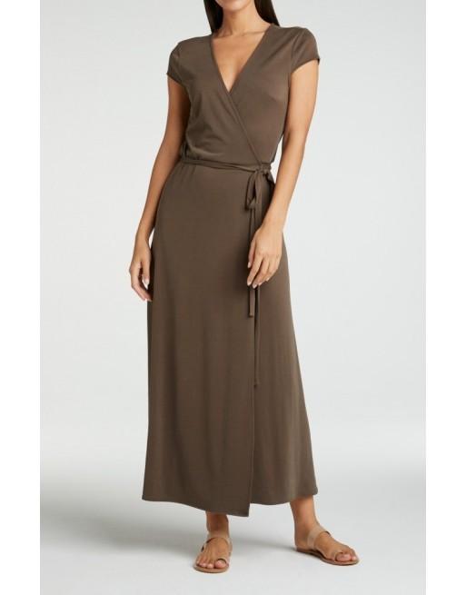 Jersey wikkel jurk