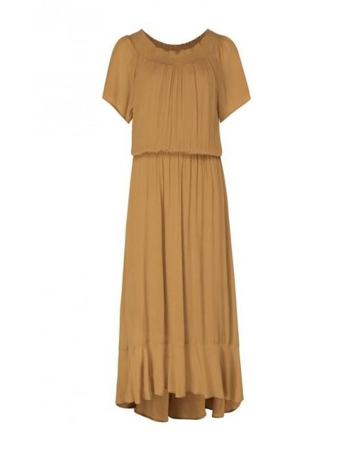 Korte mouwen maxi jurk